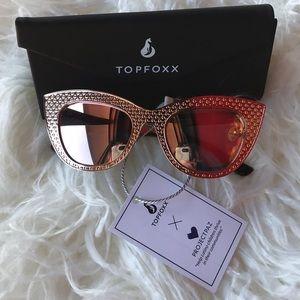 Accessories - Brand new TopFoxx rose Gold sunnies